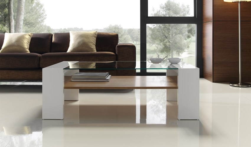 Mesa de centro moderna con cristal - Mesas modernas de centro ...