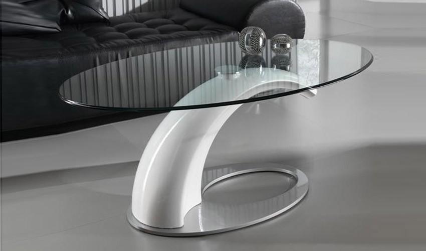 Mesa de centro de dise o con tapa cristal - Mesa centro diseno ...