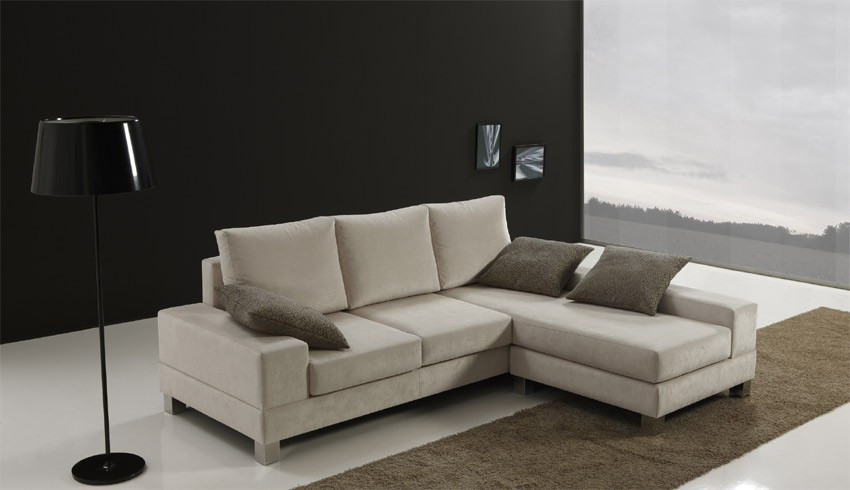 Sof chaise longue de dise o for Sofas de piel con chaise longue