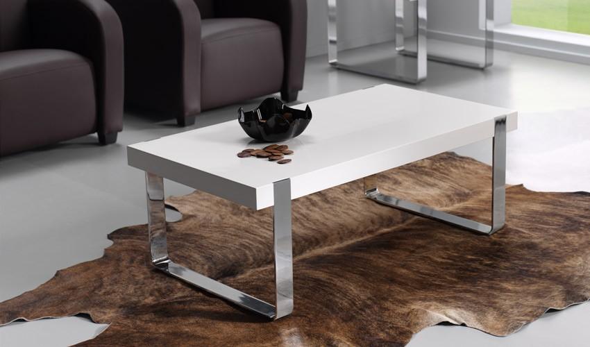 Mesa de centro con patas cromadas for Patas para mesa de centro