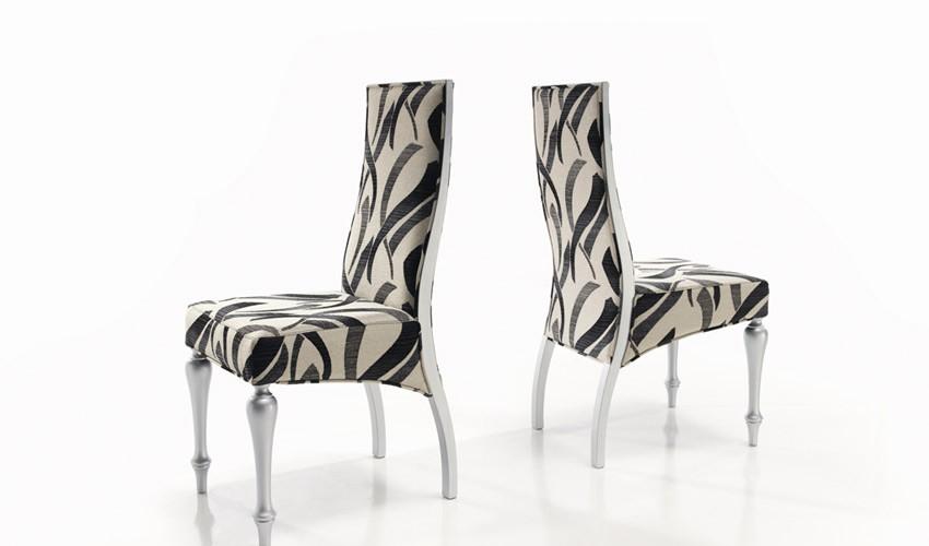 Silla de comedor tapizada ref l63000 for Comedor sillas de colores