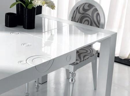 Mesa de comedor extensible lb5m blanco o negro car for Mesa 70x70 extensible