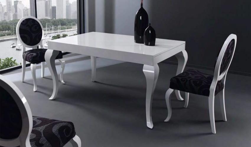 Mesa de comedor de dise o extensible - Mesas de comedor de cristal de diseno ...