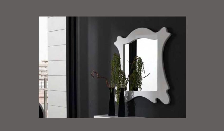 Espejo recibidor lacado ref l98000 for Espejos de diseno para recibidor