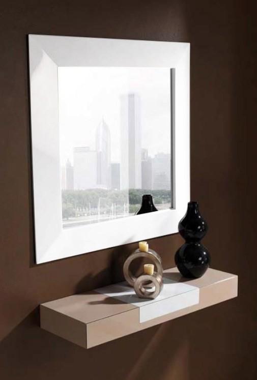Espejo recibidor cuadrado ref l104000 for Espejos de pared vintage