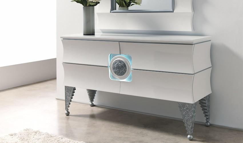 Consola recibidor de dise o impecable con luz ref l131000 - Muebles recibidores de diseno ...