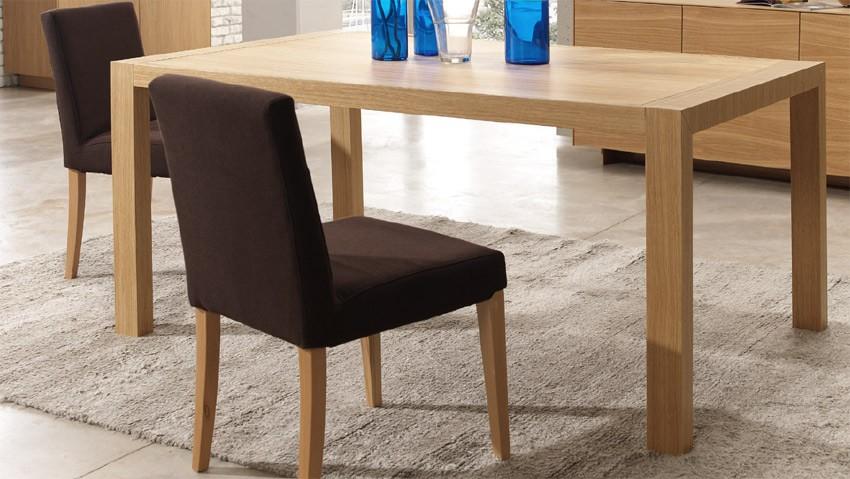Mesa de comedor extensible fabricada en roble - Mesas de roble ...