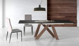 Mesa comedor Extensible con Tapa cerámica y patas de madera Ref Q129000