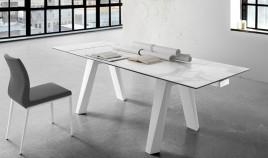 Mesa comedor Extensible con Tapa cerámica y patas de madera Ref Q136000