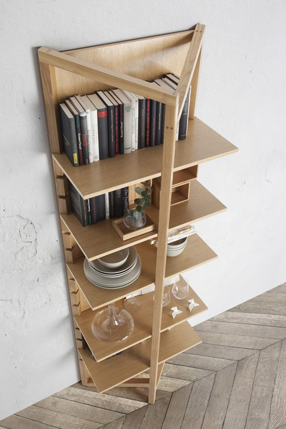 Estanter a de madera fabricada en haya disponible en - Estanterias en madera ...