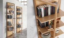Estantería de madera fabricada en Haya disponible en diferentes acabados Ref Q140000