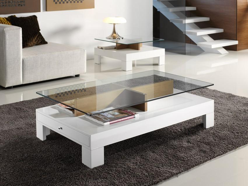 Mesa de centro de dise o tapa cristal for Mesa diseno