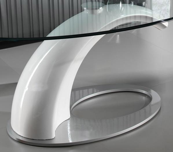 Mesa de centro de dise o con tapa cristal for Mesas de diseno para salon