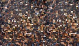 Alfombra de Piel fabricada a Mano en la India Ref C101000