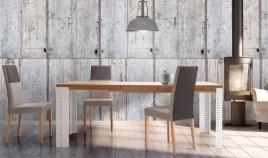 Mesa de Comedor extensible con acabado lacado o en chapa natural Ref L161000