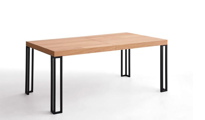 Mesa de Comedor extensible con acabado lacado o en chapa natural Ref L162000