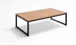 Mesa de Centro con acabado lacado o en chapa natural y patas metálicas Ref L174000
