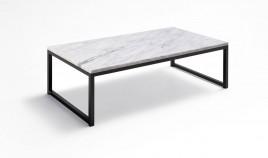 Mesa de Centro con tapa en marmol y patas metálicas Ref L175000