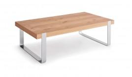 Mesa de Centro con acabado lacado o en chapa natural y patas metálicas Ref L176000