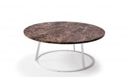 Mesa de Centro redonda con tapa en marmol y patas metálicas Ref L180000