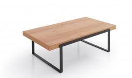 Mesa de Centro con acabado lacado o en chapa natural y patas metálicas Ref L181000