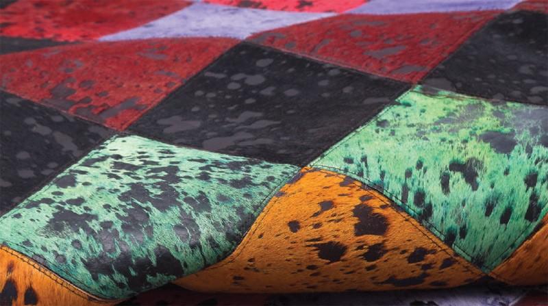 Alfombra de Piel fabricada a Mano en la India Ref C16000