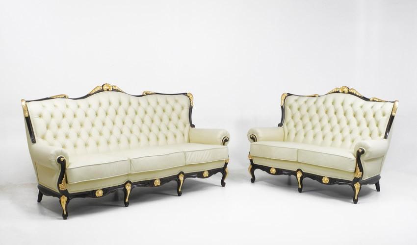 PT22000 Sofá Clásico estilo Napoleón disponible en 3, 2 y 1 Plazas