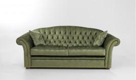 PT23100 Sofá cama clásico con acabado capitoné disponible en 3, 2 y 1 Plazas