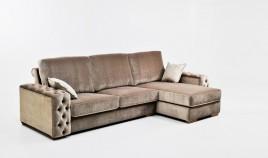 PT25000 Sofá chaiselongue clásico con capitoné disponible en 4, 3 y 2 Plazas