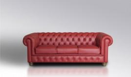 PT27000 Sofá clásico Chester con capitone en 3, 2 y 1 Plazas, disponible tambien con rinconera