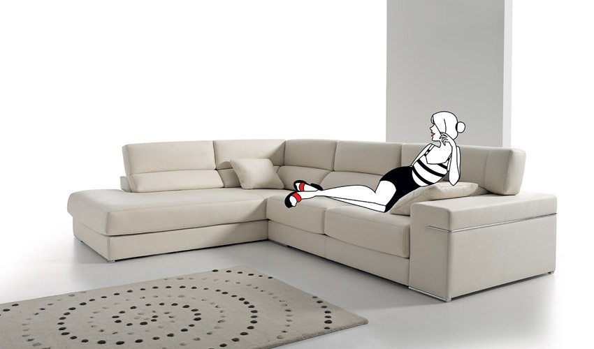 MT24000 Sofá Rinconera disponible tambien en chaiselongue con arcón y en 4, 3, 2 y 1 Plazas