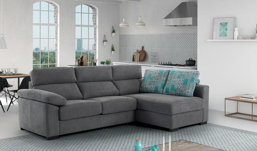 MT25000 Sofá chaiselongue con arcón disponible en 4, 3, 2 y 1 Plazas