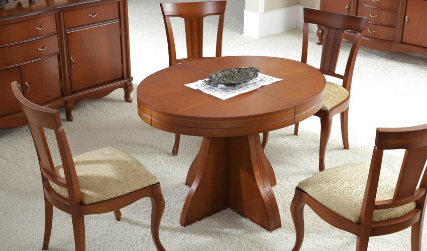 Mesa de Comedor redonda extensible Clásica Ref H10019