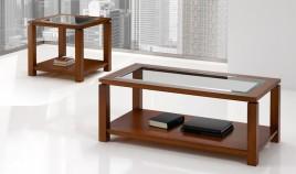 Mesa de Centro elegante con opción tapa madera o cristal Ref H10082