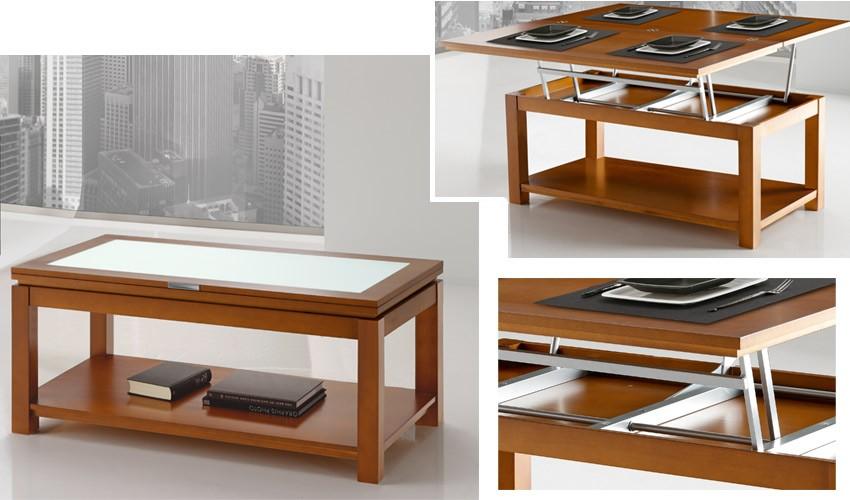 Mesa de Centro elevable convertible en mesa de comedor Ref H10084