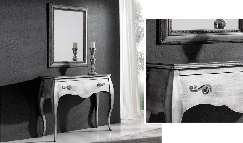 Conjunto recibidor clásico de consola y espejo Ref H10134