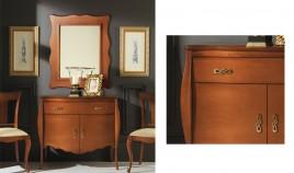 Conjunto recibidor clásico con taquillón y espejo Ref H10135