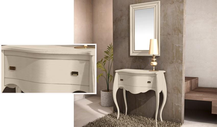 Conjunto recibidor clásico de consola y espejo Ref H10137