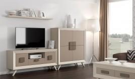 Salón de Diseño con módulo Tv, Aparador y estante Ref H10159