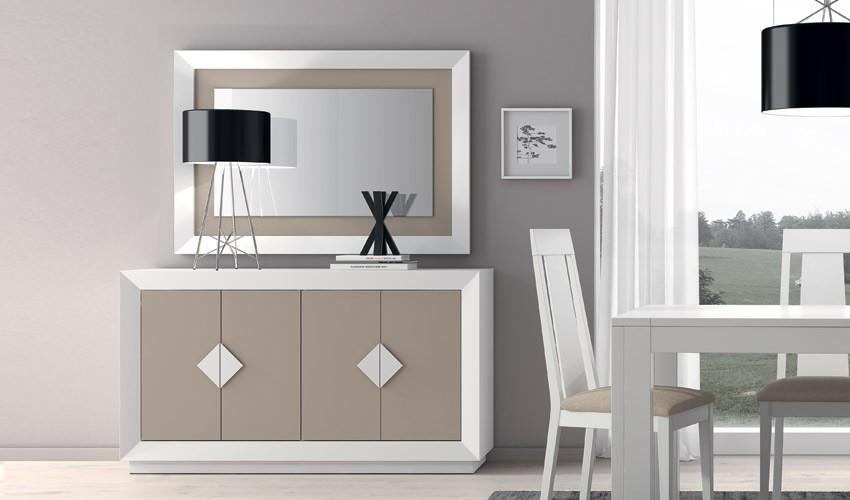 Conjunto Aparador y Espejo de Diseño Ref H10163