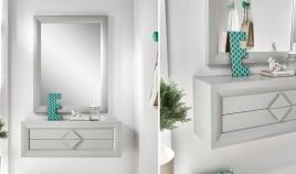 Conjunto recibidor de Diseño con Consola y Espejo Ref H10177