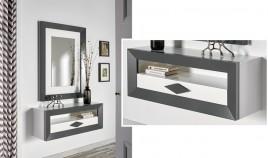 Conjunto recibidor de Diseño con Consola y Espejo Ref H10178