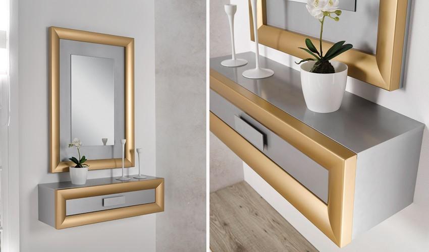 Conjunto recibidor de Diseño con Consola y Espejo Ref H10179