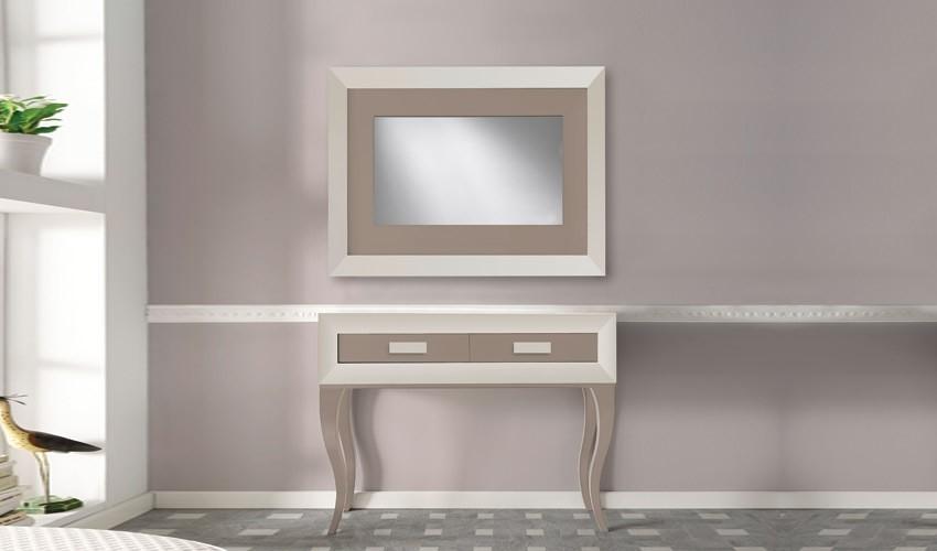 Conjunto recibidor de Diseño con Consola y Espejo Ref H10181