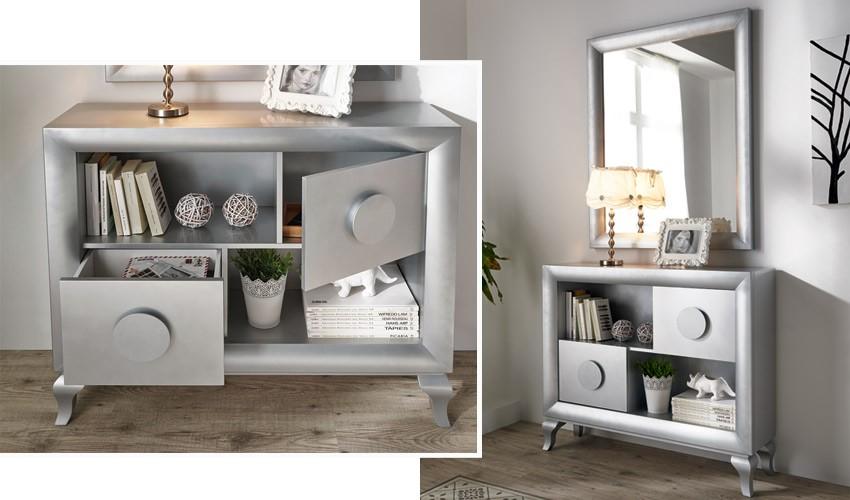 Conjunto recibidor de Diseño con Consola y Espejo Ref H10186