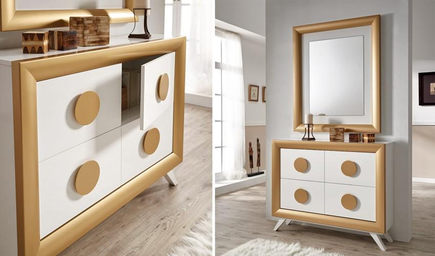 Conjunto recibidor de Diseño con Taquillón y Espejo Ref H10188