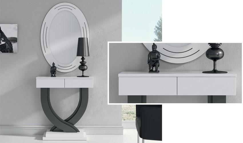 Conjunto recibidor de Diseño con Consola y Espejo Ref H10195