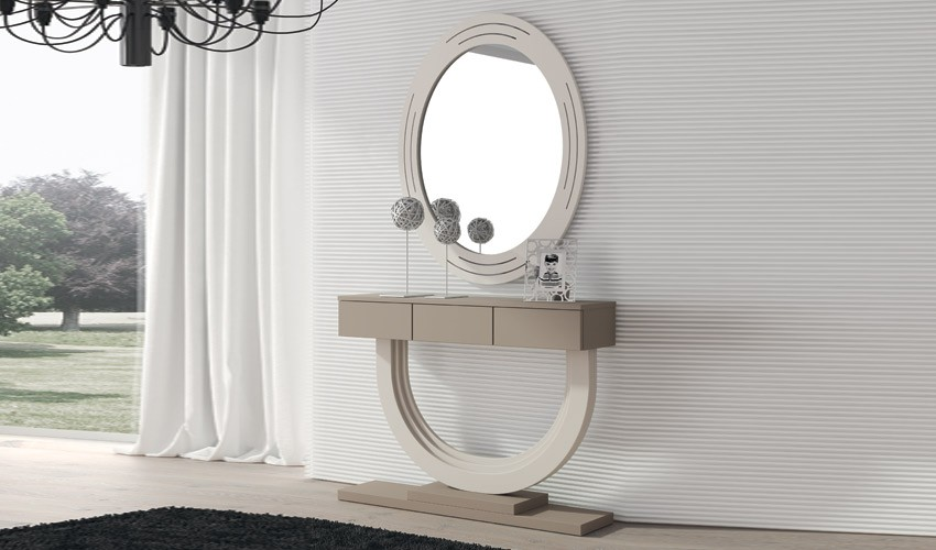 Conjunto recibidor de Diseño con Consola y Espejo Ref H10198