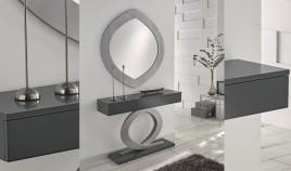 Conjunto recibidor de Diseño con Consola y Espejo disponible en 2 tamaños Ref H10200