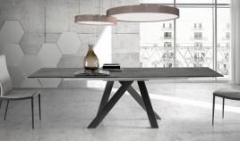 Mesa comedor Extensible con Tapa cerámica y patas de madera Ref Q128000